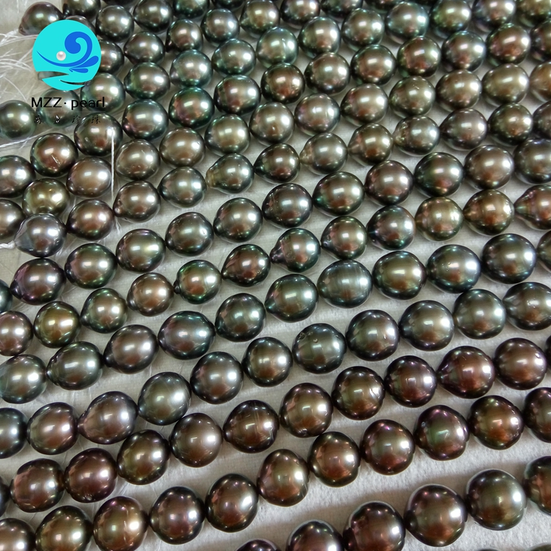 drop shape tahitian pearl strands