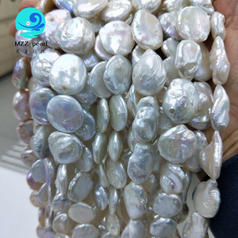 cultured coin pearl strands