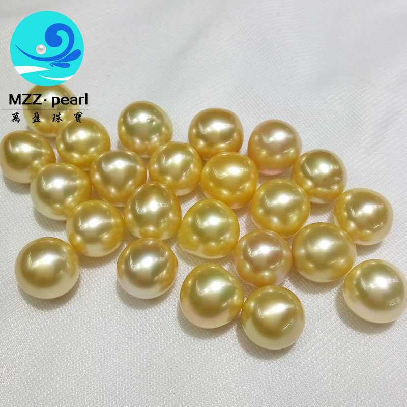 loose golden tear drop shape pearl