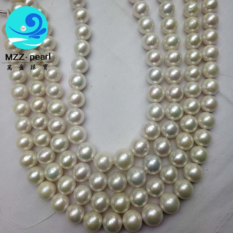 large white round pearl necklace