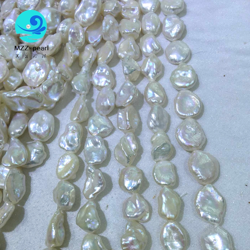 big white keshi pearl necklace