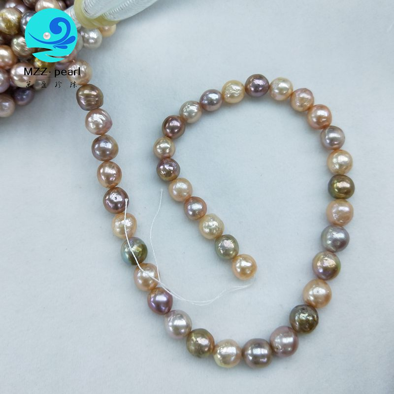Stunning soft metallic Edison Pearl stands 12-15mm,multicolor nucleated pearl strands wholesale