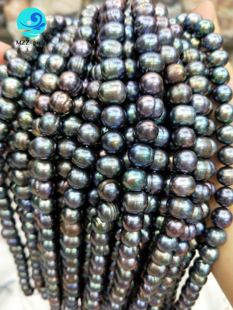 pure black freshwater pearls