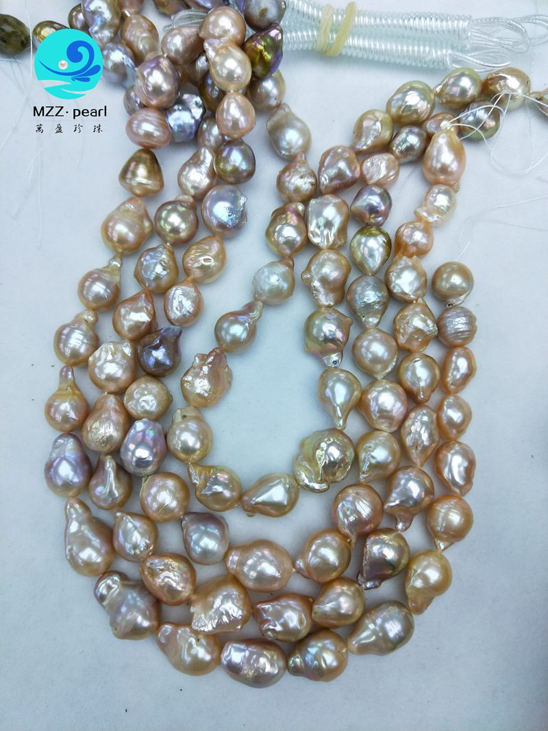 large pink baroque pearls
