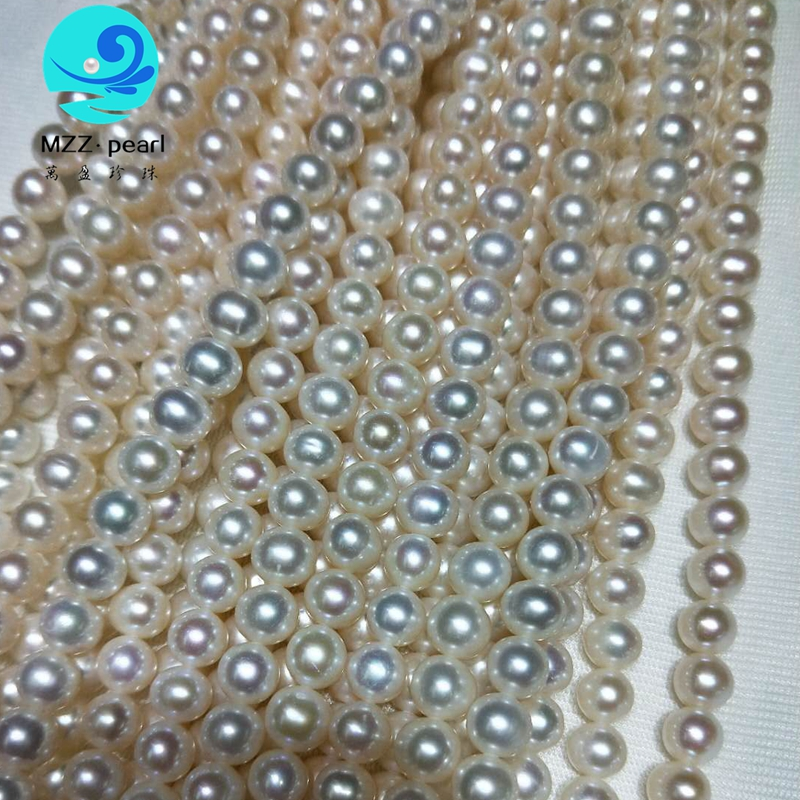 very high luster  freshwater pearl strands