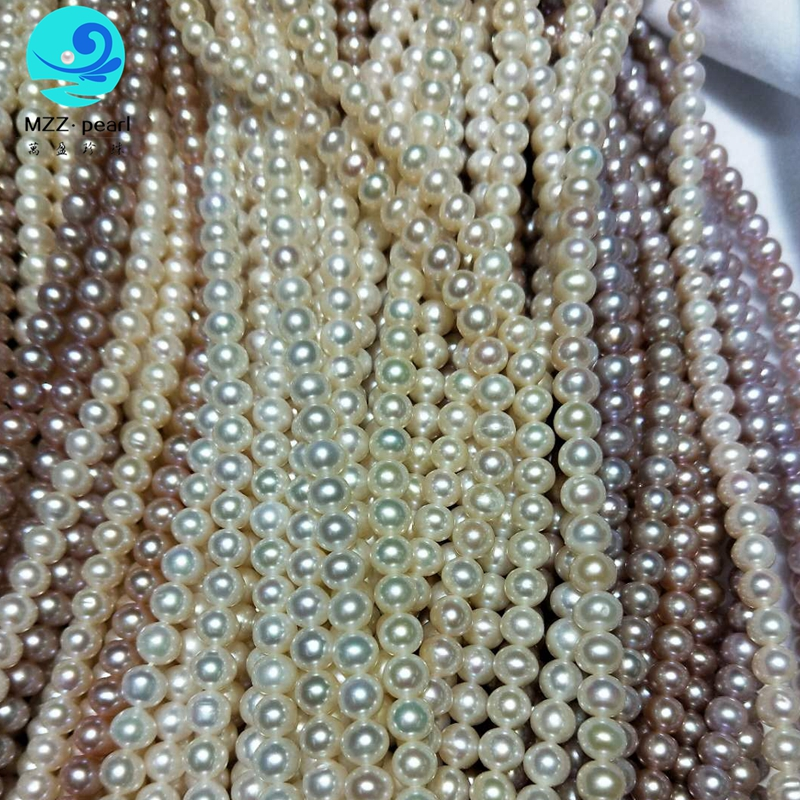 oval 7-8mm super high luster freshwater cultured pearl strands for wholesale