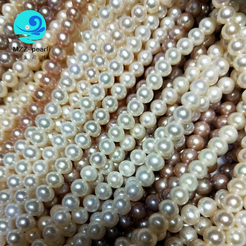 white chinese freshwater pearl strands