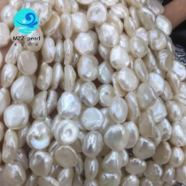 11mm keshi pearl strands