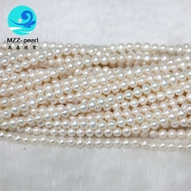 freshwater raw round pearls 5-6mm good luster pearl strands