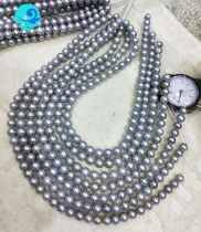grey round pearl strands