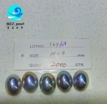 oval mabe pearl