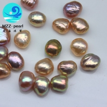Metallic nugget pearls