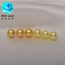 8-8.5mm AAA grade deep and light golden south sea akoya pearls  for bulk sale