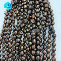 10-11mm baroque pearl strand brown