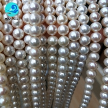 off round pearl strands