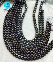 round peacock pearl necklace