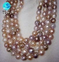 multi color freshwater edison large pearl beaded strands