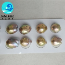 13-15mm golden baroque fireball pearls in pairs for making pearl jewelry