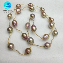 long natural pearl necklace