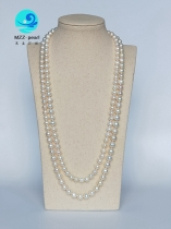long pearl necklace costume jewelry