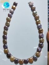 multi color coin pearl strands