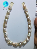 freshwater diamond shaped pearls