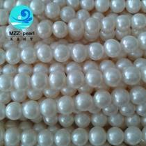freshwater cultured potato shape 5-6mm pearl strands
