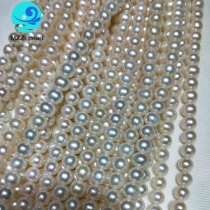 white freshwater pearl strands