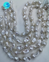 nucleated baroque pearls