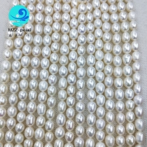 strand of cultured freshwater rice pearls